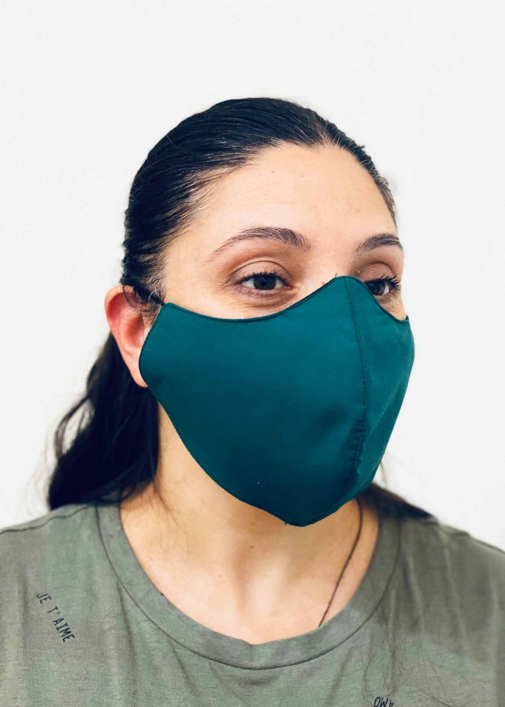 Ladies DHHS Green Face Mask by Laundry Box Melbourne