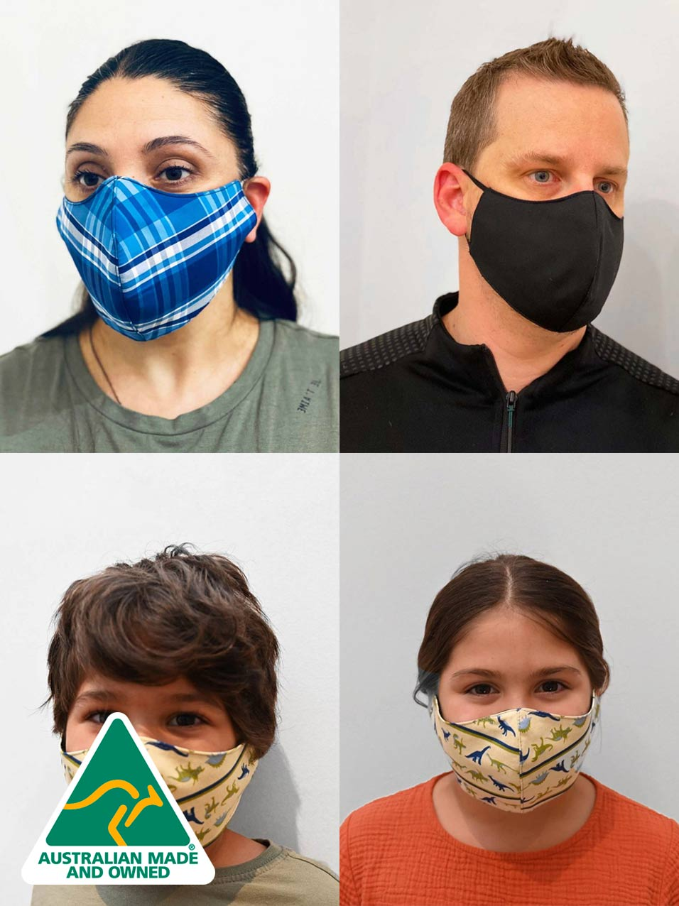 Reusable Face Masks | A family wearing face masks