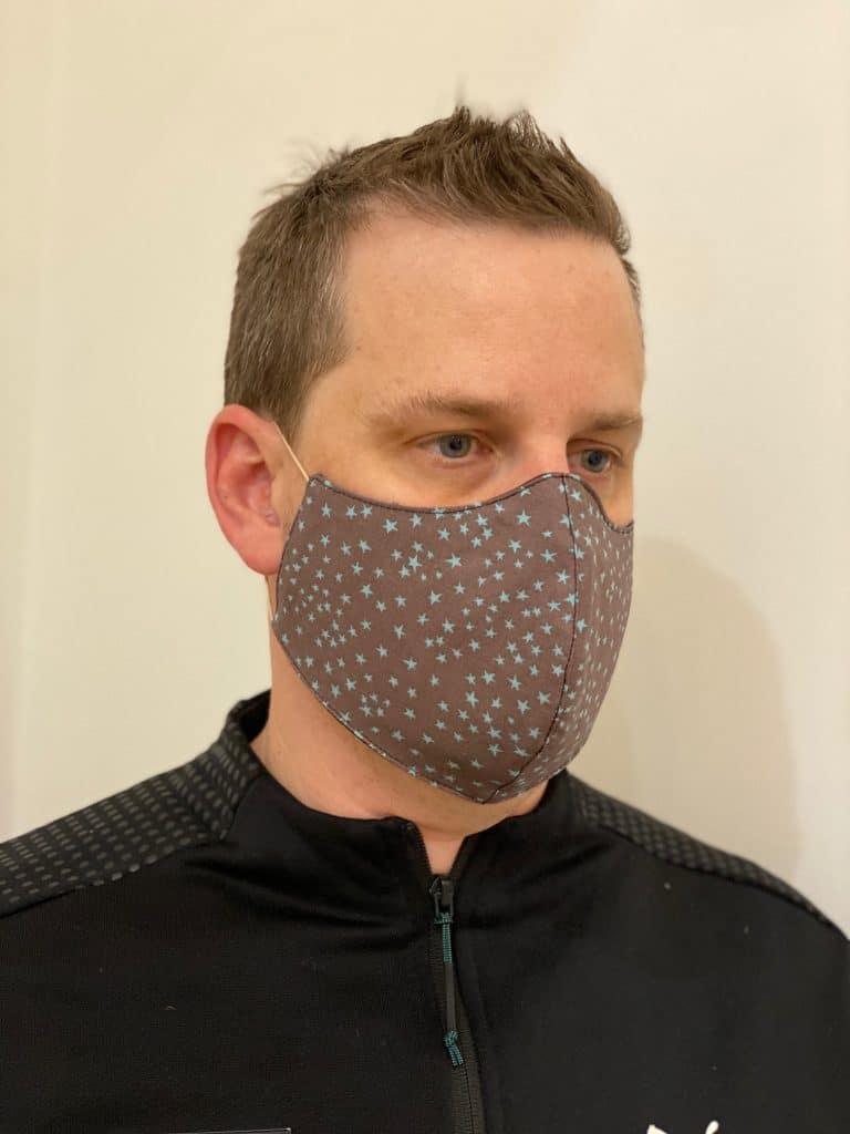 Men's Star Pattern Reusable Face Mask