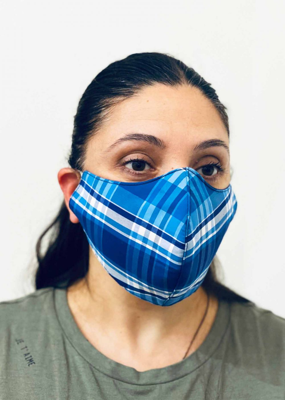 Ladies DHHS Tartan Pattern Face Mask by Laundry Box Melbourne