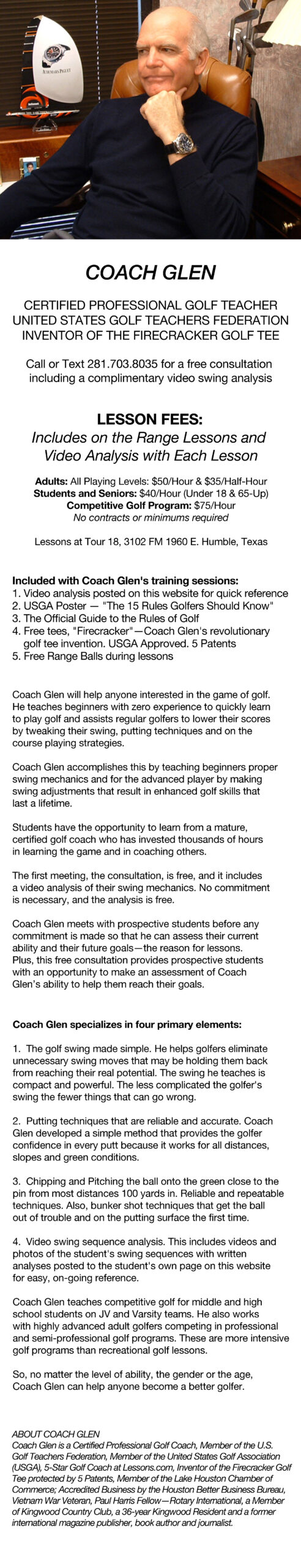 Coach glen HOME PAGE