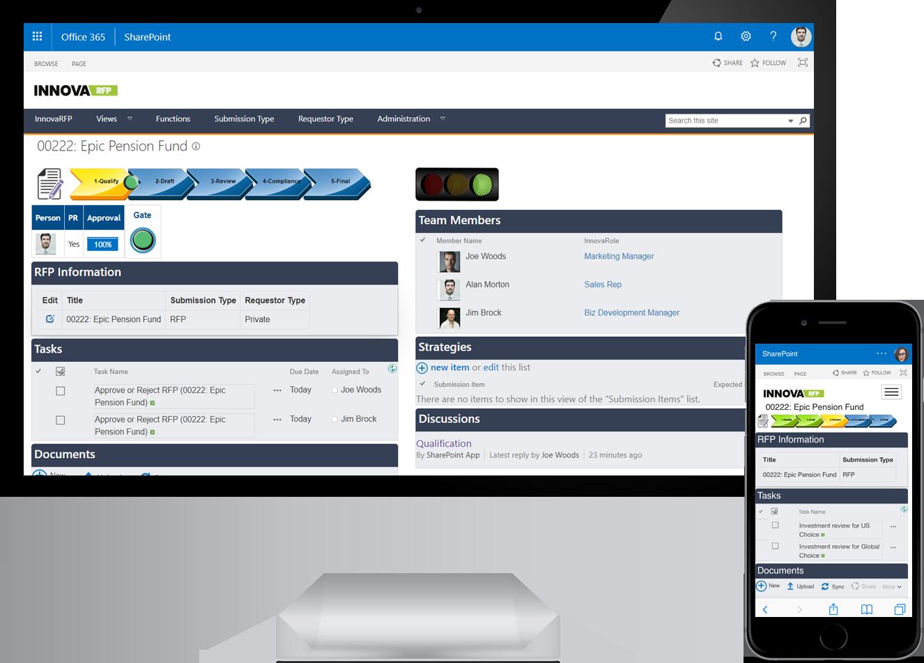 Proposal Management using Microsoft 365