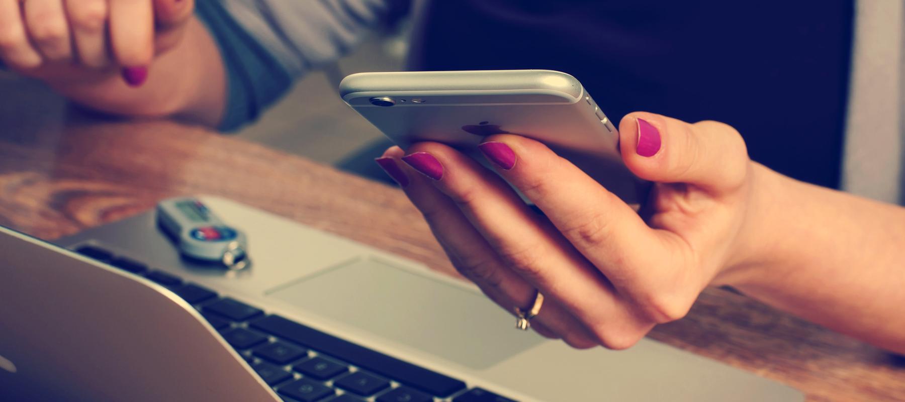 Accediendo un website por celular