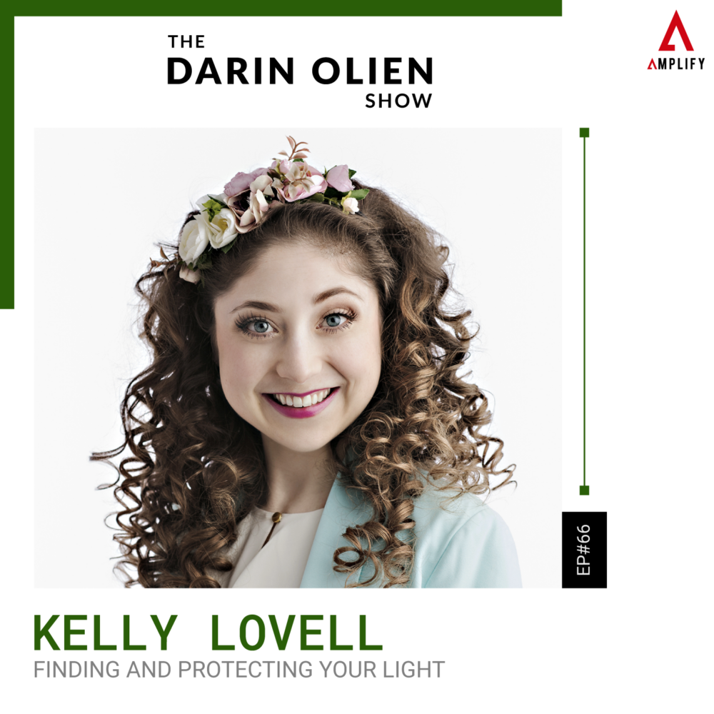 decorative image containing the title and a picture of Kelly Lovell
