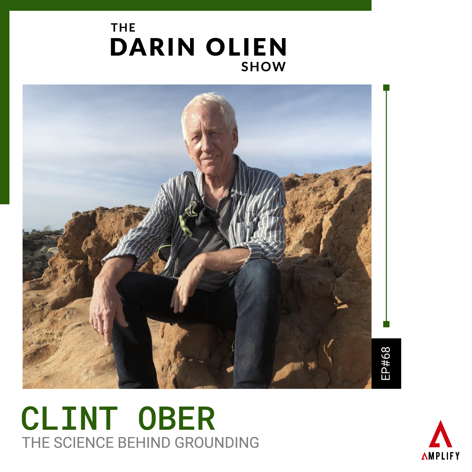 decorative image with the title and a picture of Clint Ober