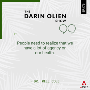 decorative image with the quote People need to realize that we have a lot of agency on our health.