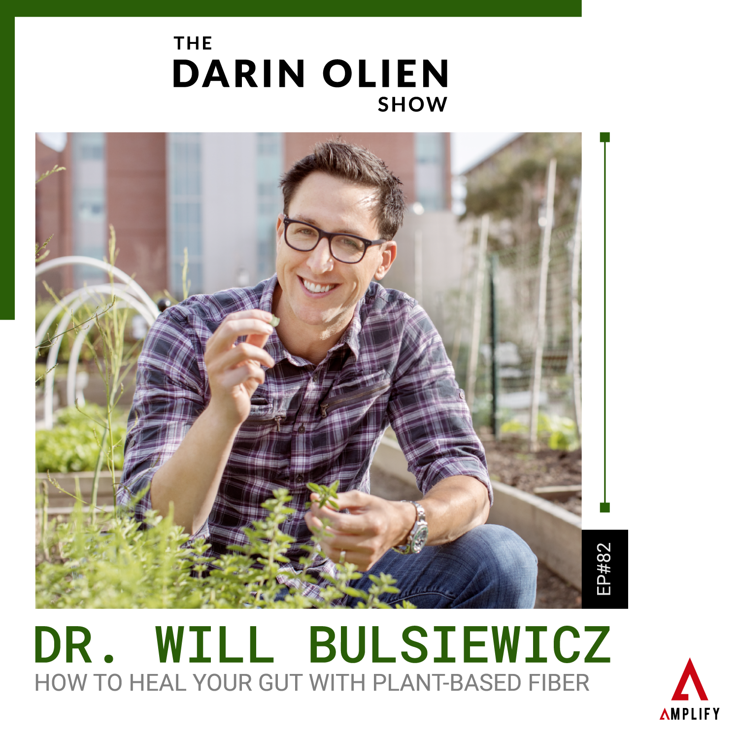 decorative image with the episode title and a picture of Dr. Will Bulsiewicz