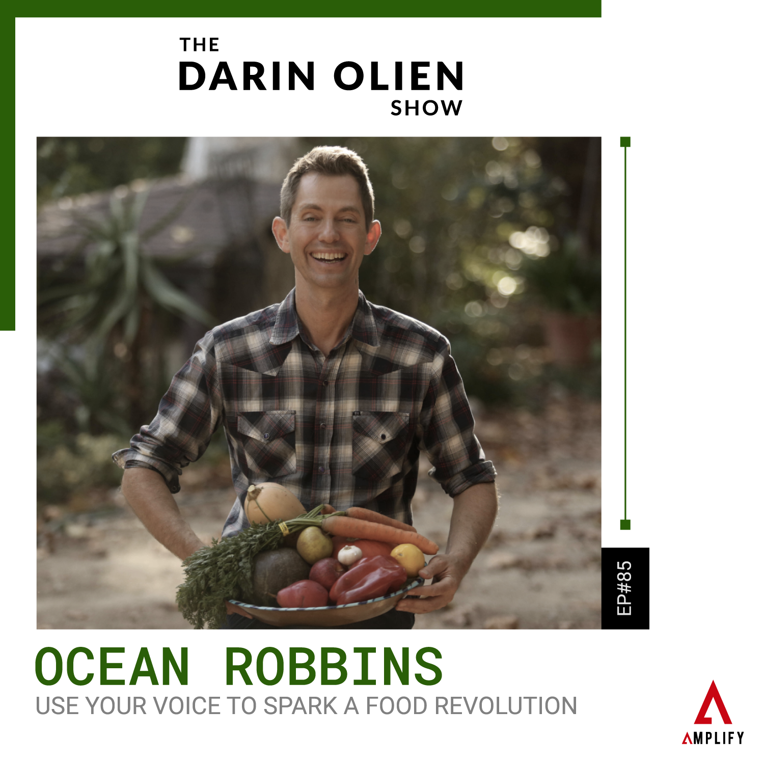 decorative image with the episode title and a picture of Ocean Robbins