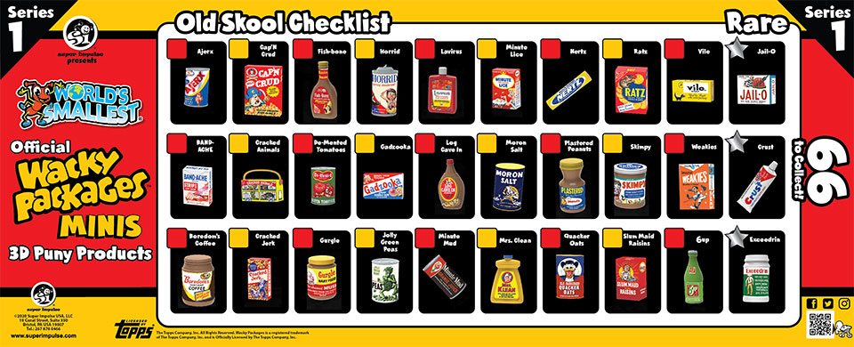 Old Skool Checklist