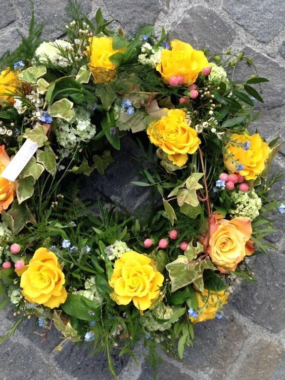 Trauer Blumenkranz