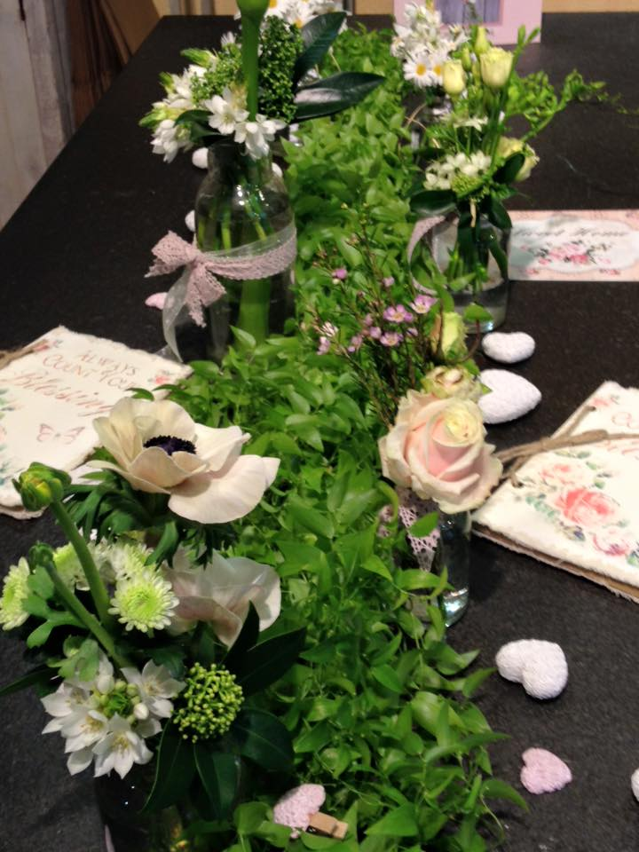 Blumen Tischdekoration Fest