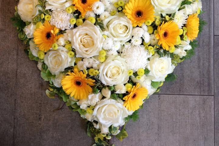Blumenherz zum Valentinstag