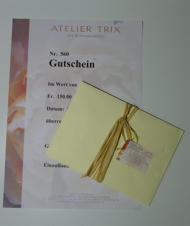 Gutschein Atelier Trix