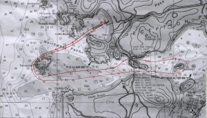 Deception Pass Dash - 6 mile Race Route. Click to enlarge.