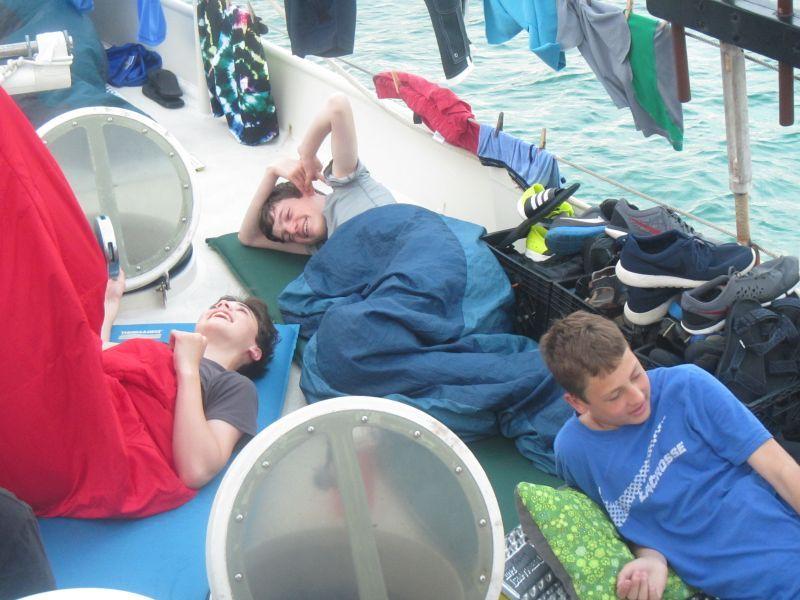 Sleeping on deck 1