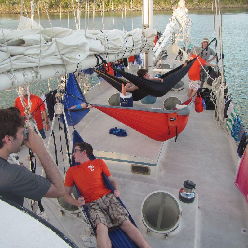 Sleeping on deck 2