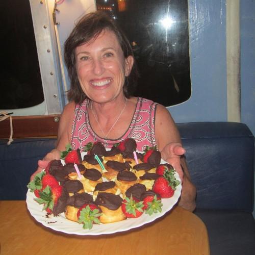 Our guest, Lane, enjoying her birthday on Ciganka