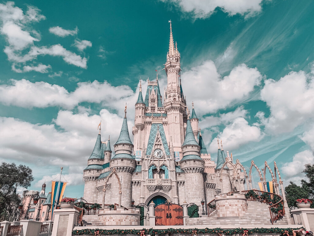 Cinderella's castle, cloudy skies - changing times