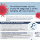 """Snapshot of WRMA's handout, """"The effectiveness of your COVID-19 response is in the integrity of your systems."""""""