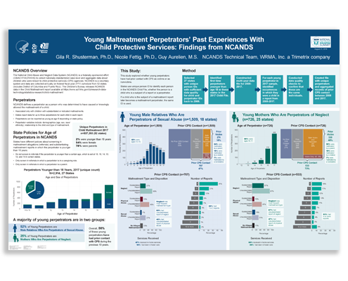 Research poster: Young Maltreatment Perpetrators' Past Experiences with Child Protective Services: Findings from NCANDS.