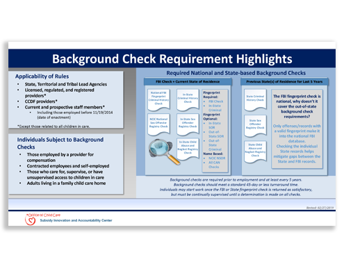 NCSIA Background Check Requirement Highlights.