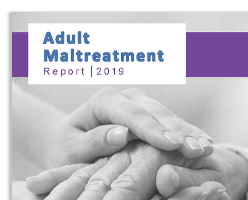 Snapshot of the cover for the Adult Maltreatment Report 2019.