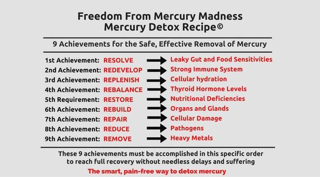 THE 9 ACHIEVEMENTS: THE SAFE PAIN-FREE WAY TO DETOXIFY MERCURY