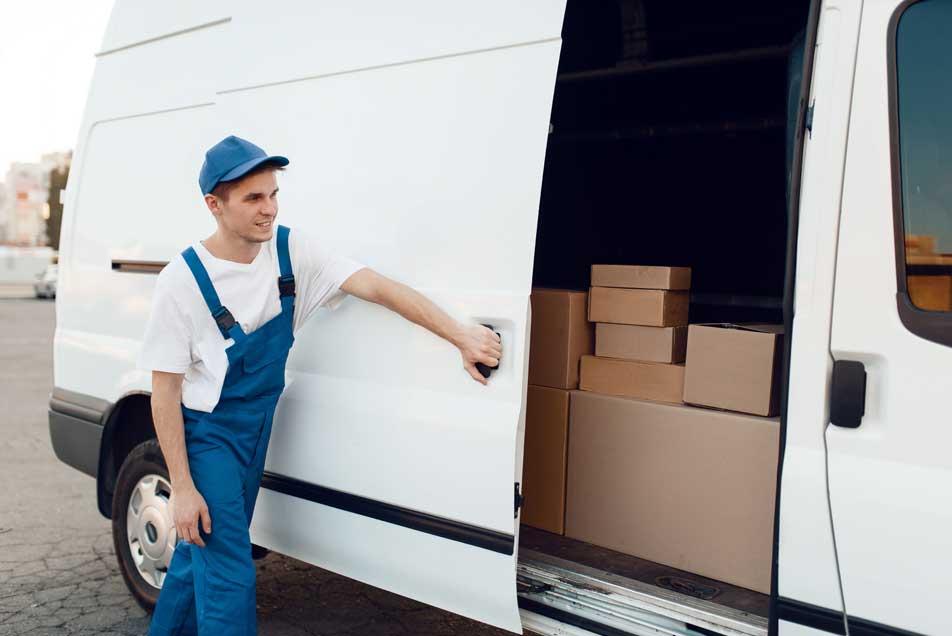 Man loading truck