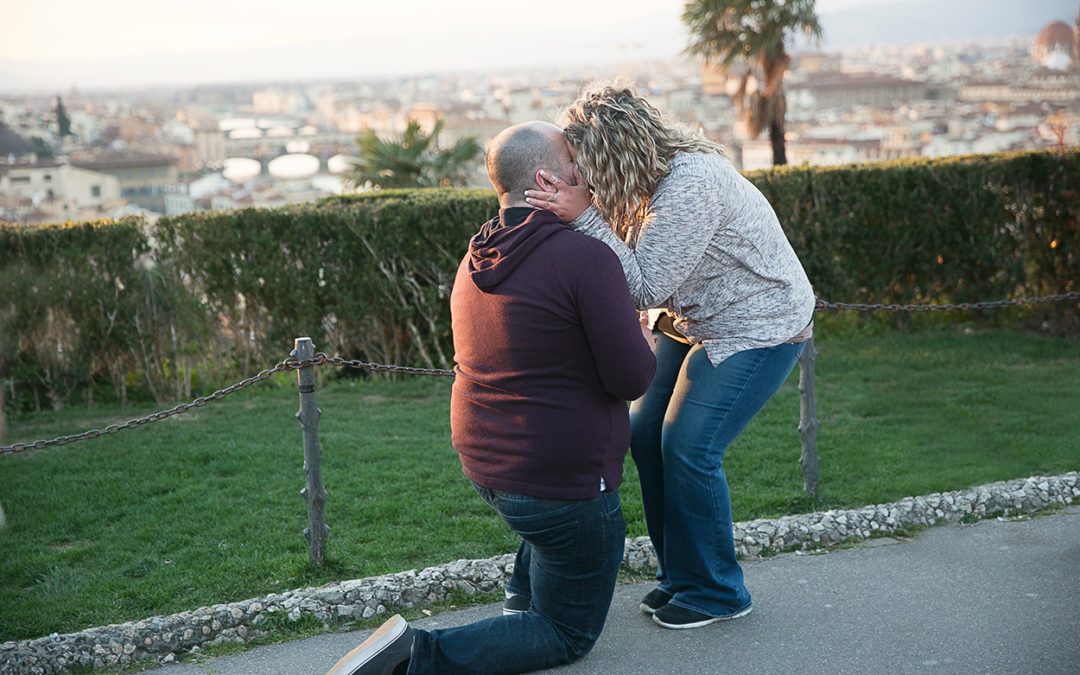 Surprise Proposal in Florence, Italy   Destination photographer in Italy