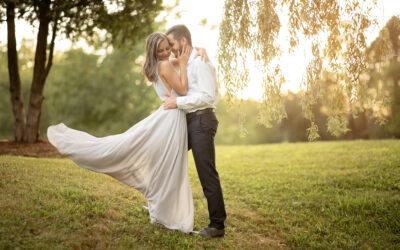 Romantic Rowboat Engagement Photography | Holt, MI | Kaelyn + Brian