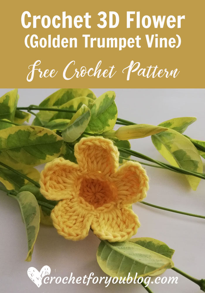 Golden Trumpet Vine - Free Crochet Flower Pattern