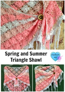 Spring and Summer Triangle Shawl - free crochet pattern
