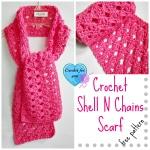 Crochet Shell N Chains Scarf - free pattern