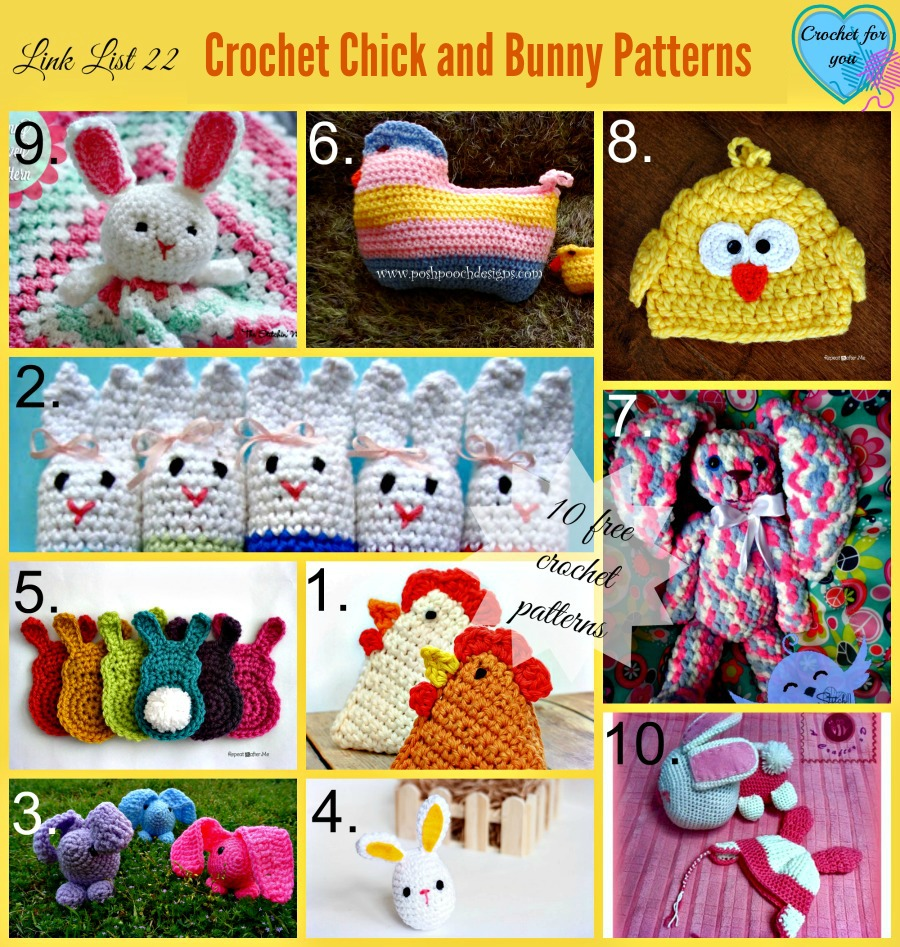 Link List 22 Crochet Chick and Bunny Patterns