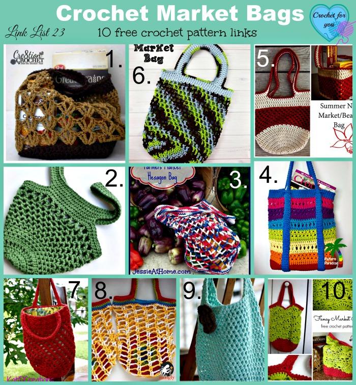 Link list 23 - Crochet Market Bags