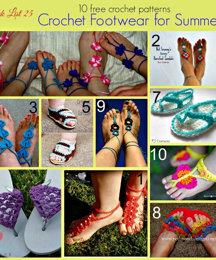 Link list 25 Crochet Footwear for Summer