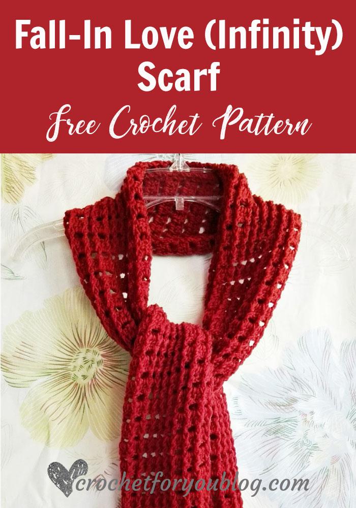 Fall-In Love (Infinity) Scarf - free crochet pattern