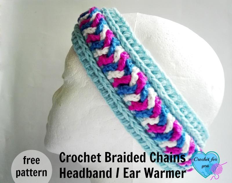Crochet Braided Chains Headband or Ear Warmer - free pattern