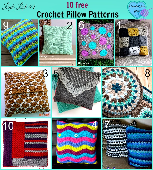 10 free Crochet Pillow Patterns