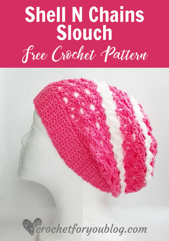 Shell N Chains Slouch - free crochet pattern