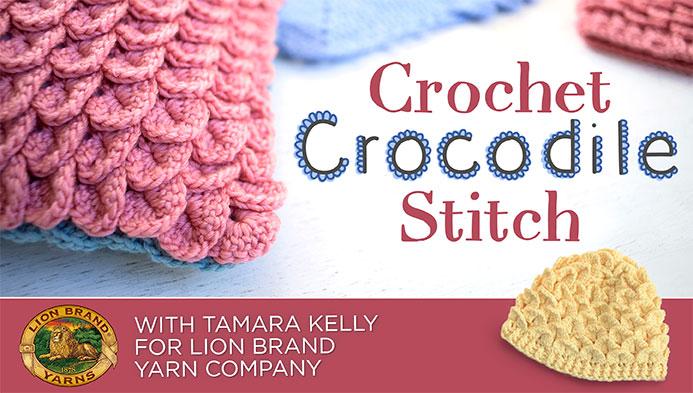 Craftsy class: Crochet Crocodile Stitch
