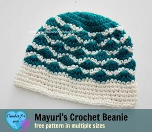 Mayuri's Crochet Beanie - free pattern