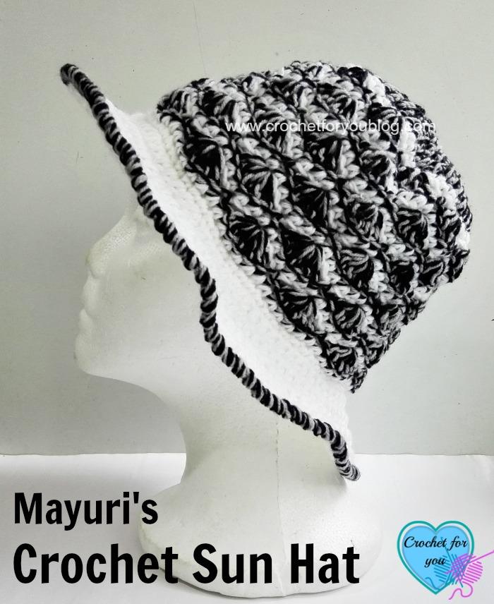 Mayuri's Crochet Sun Hat - free pattern