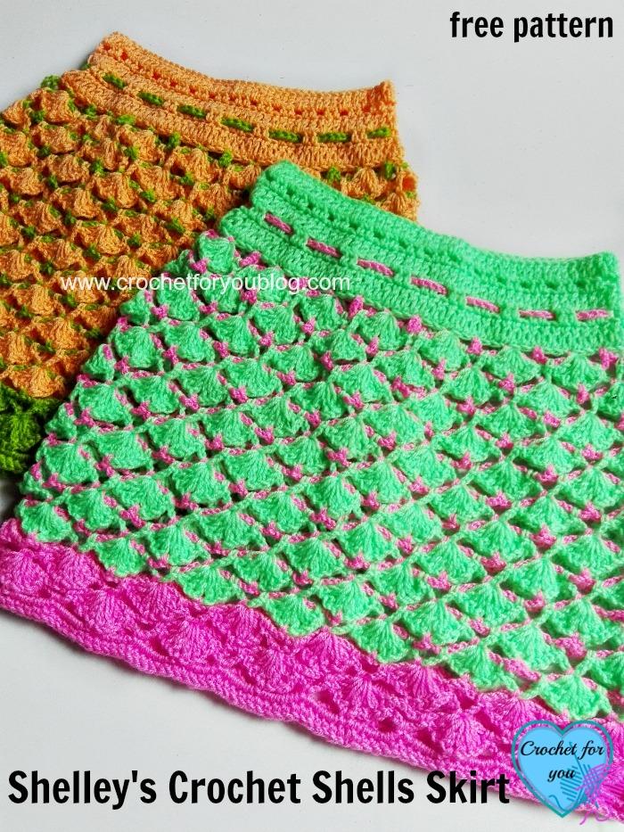 Shelley's Crochet Shells Skirt - free pattern