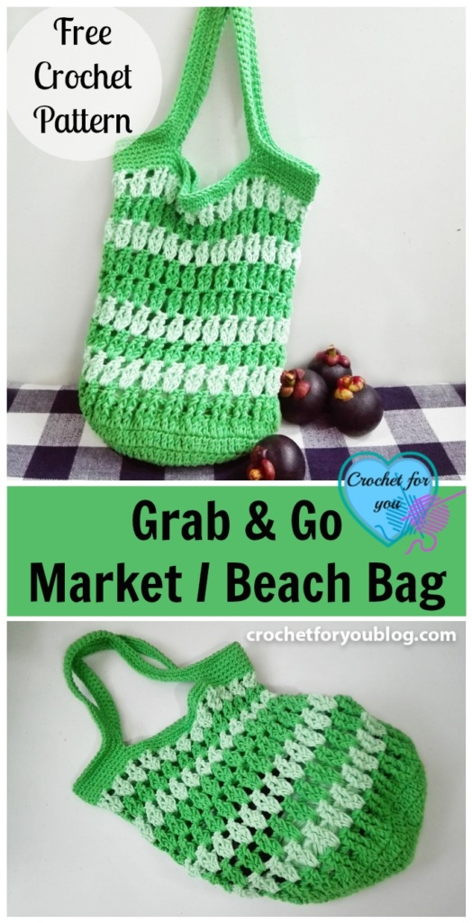 Grab & Go Market or Beach Bag - free pattern