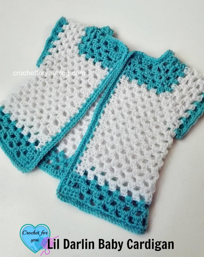 Crochet Lil Darlin Baby Cardigan - free pattern