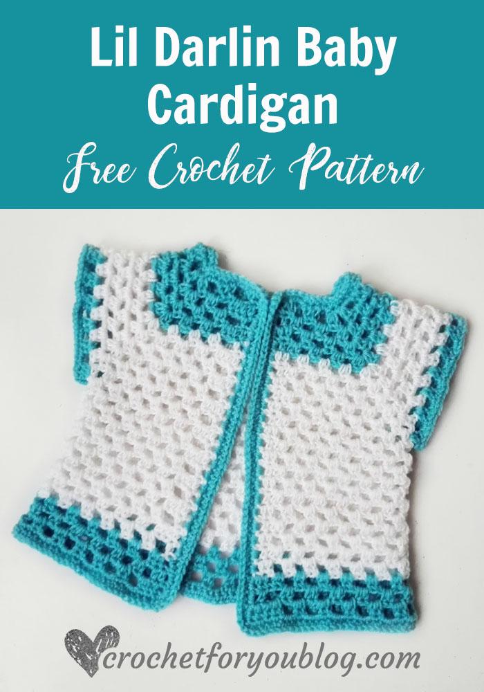 Lil Darlin Baby Cardigan - free crochet pattern