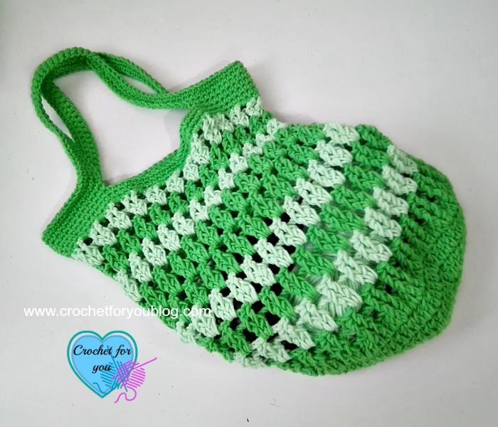 Grab & Go Market or Beach Bag free crochet pattern
