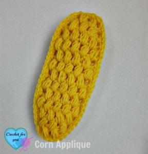 Crochet Corn Applique