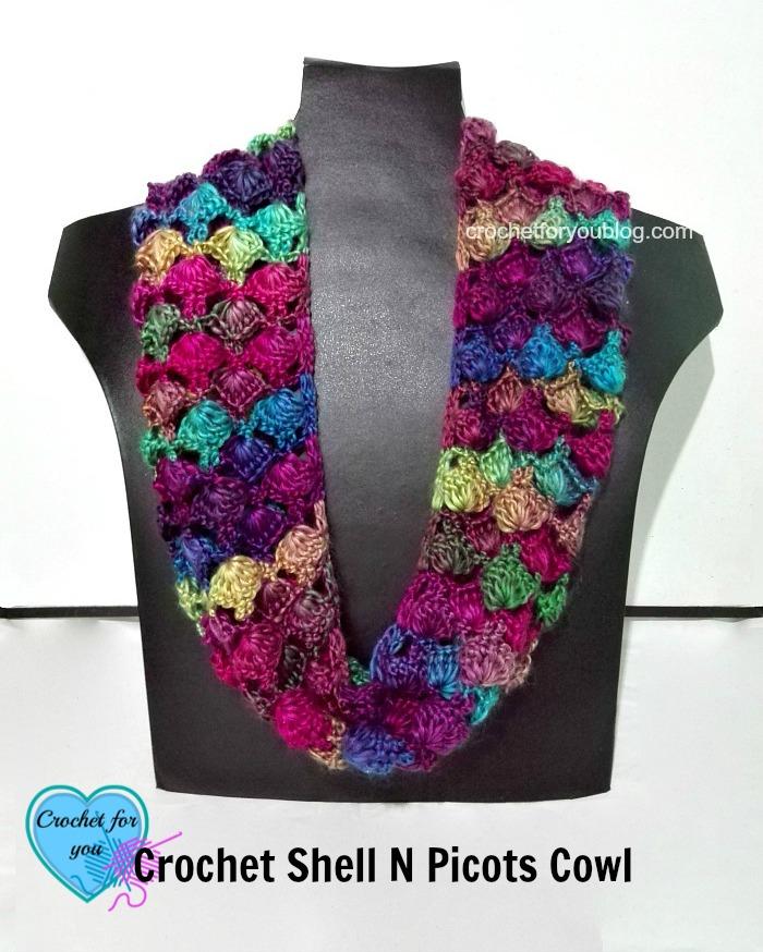 crochet-shell-n-picots-cowl-free-pattern